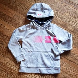 Under Armour Heather Gray Hoodie Youth Small